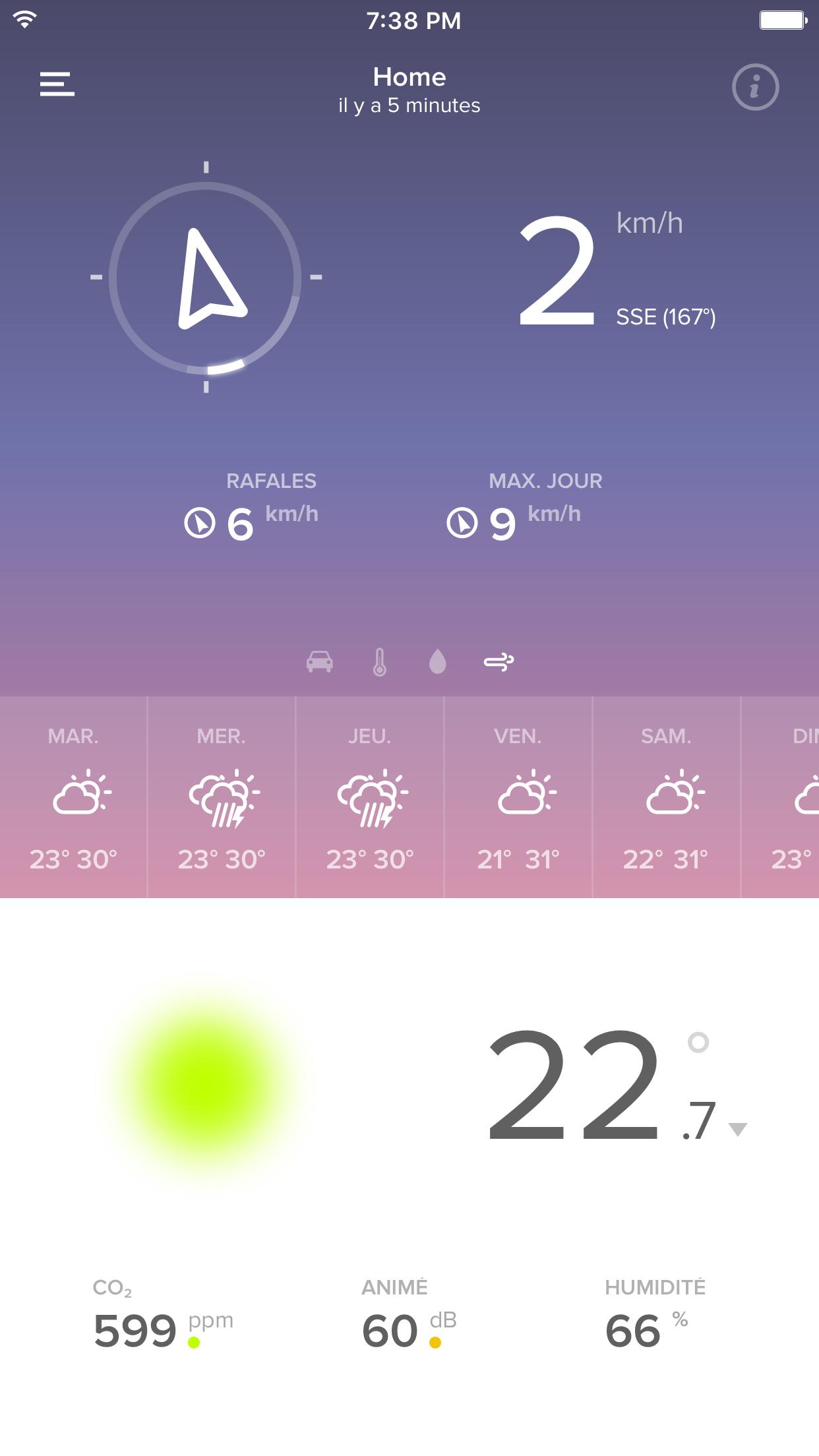 Application Weather on WindGaud Module