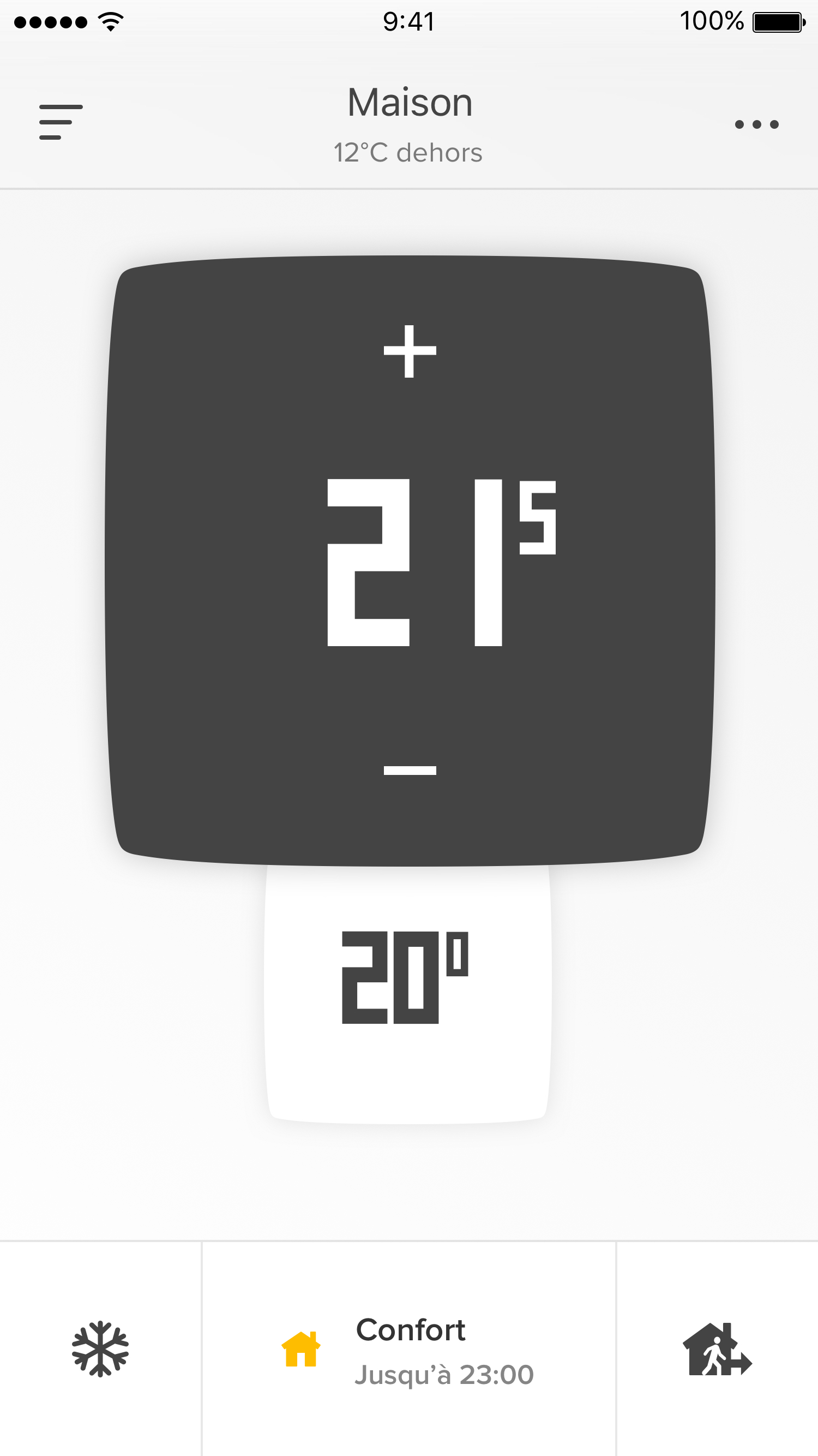 Application Energy with Thermostat