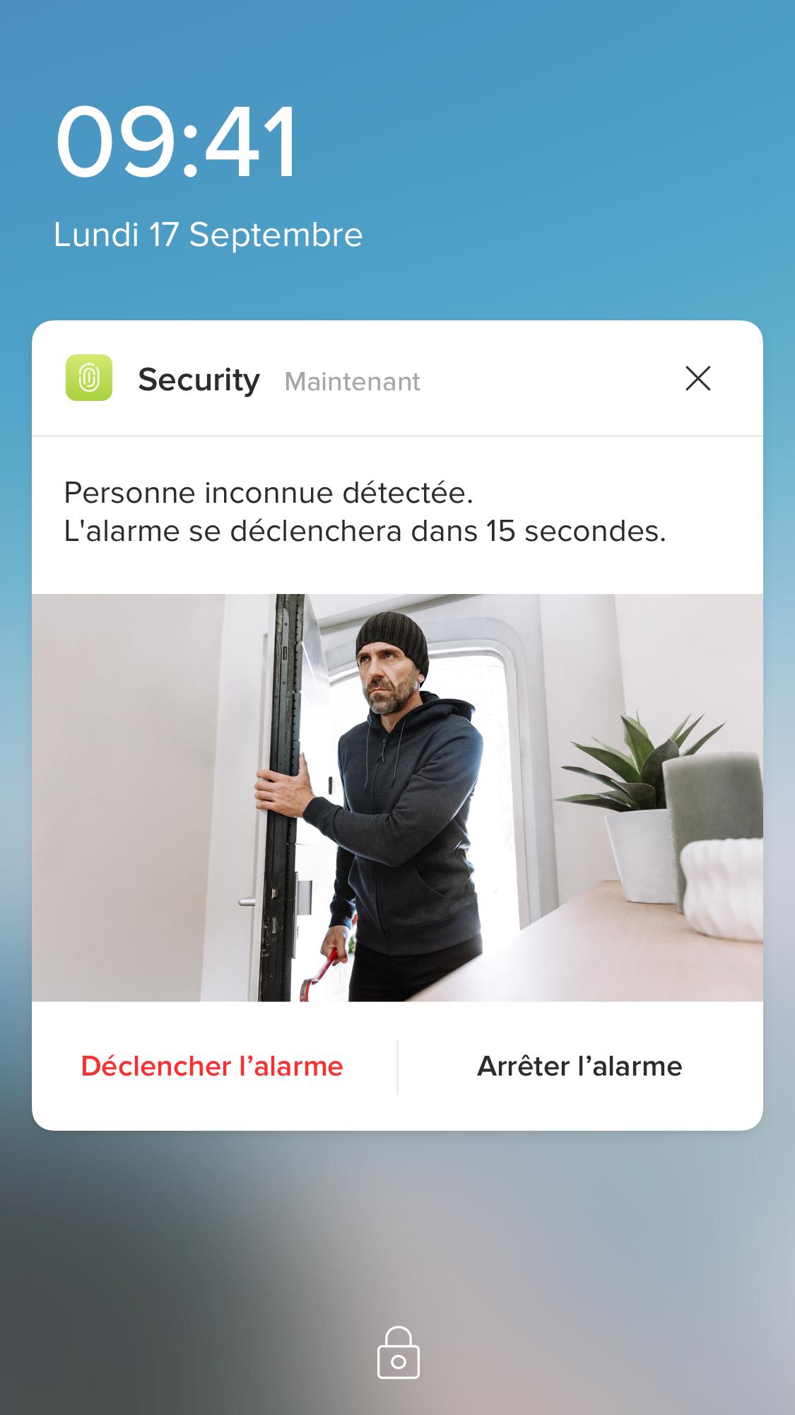 Notification intrusion